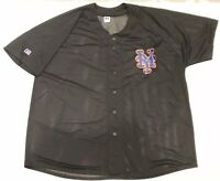 Vintage New York Mets Russell Athletic MLB  Light Mesh Throwback Jersey Mens 2XL