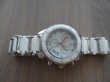 Genuine Women Klaus Kobec Wicked WHITE ceramic bracelet quartz watch