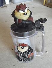 1997 Warner Bros Tasmanian Taz Figural Plastic Lidded Mug Look