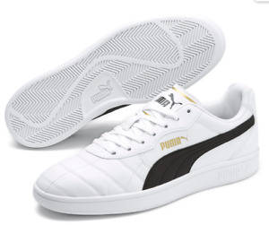 PUMA Astro Kick SL Shoes- 11.5- NEW-white/gold classic soccer Sneakers-SoftFoam+
