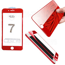 FULL iPhone 7 4D Temper Glass Lcd Screen Protector For Apple iPhone 7- RED