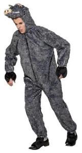 Wildschwein Wildschweine Schwein Schweine Eber Kostüm Overall Herren Keiler grau