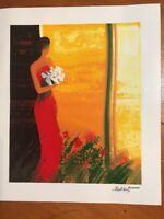 """Emile Bellet Seriolithograph in Color COA-Pleine Floraison-7"""" x 8 1/2""""SHIPS FREE"""