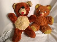 lot 2 Expert Doll & Toy Company Teddy Bear Vintage Brown Plush Stuffed Animal