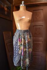 PETITES BY LEE WINTERS Womens Printed Multi-Color Midi Skirt Small