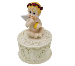 Pin Box Baby Angel 9cm Pear in Hand New