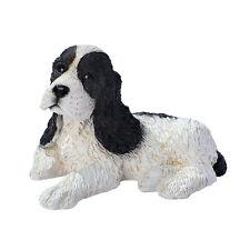 Puppy Dog: Black & White Cocker Spaniel Breed Man's Best Friend Animal Sculpture