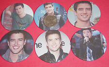 "Big Time Rush Logan Henderson Set Of  6 LARGE 2 1/4"" Buttons Pins Party Favors"