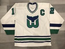 CCM Hartford Whalers White Ultrafil NHL Hockey Jersey Size Large