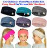New! C.C Children's Kids' Winter Warm Cable Knit Fuzzy Lined Ear Warmer Headband