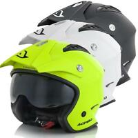 ACERBIS QUALITY ARIA OPEN FACE HELMET WITH BUILT IN RETRACTABLE VISOR