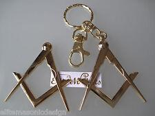 Masonic Master Mason Car Auto Multipurp emblem&Keychain Gold  EliteMDesign