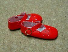"Doll Shoes, SLIM*  58mm RED Girl Dressy - fits 14"" Kish"
