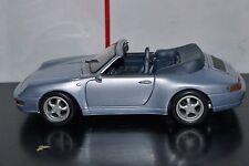 Porsche 911 Carrera Cabriolet Convertible Gray 1:18 Scale Toy Car Diecast Maisto