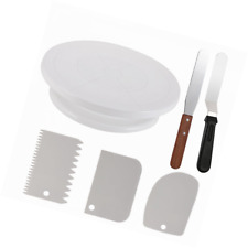 Cake Decorating Turntable,Thsinde Cake Decorating Supplies With Decorating Comb/