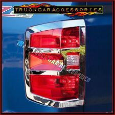 For Silverado 1500 2014-2017+2500/3500HD 2015 2016 Chrome Tail Light Covers OPEN