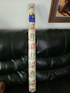 Vintage 1998 Gift Wrapping Paper Cleo 95 sq. ft. Animals Theme NEW