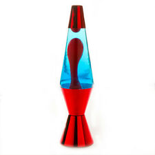 Red/Red/Blue Metallic Diamond Motion Lava Lamp 36cm Magma Light Peace Office Bed