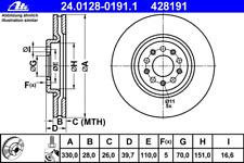 Bremsscheibe (2 Stück) - ATE 24.0128-0191.1