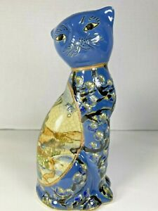 """Vintage Porcelain Chinese Cat seated 7.5"""" x 3.5"""" x 2.75"""""""