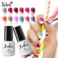 Belen Snowy Thermal Color Change Gel Nail Polish Base Top Varnish UV LED Gift UK