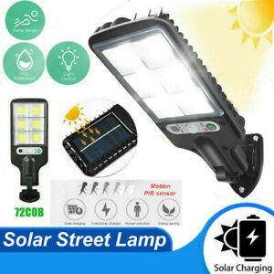 600W LED Solar Wall Light Motion Sensor Outdoor Garden Security Street Yard Lamp