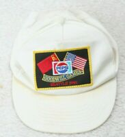 Goodwill Games Vintage Hat Cap Adjustable Snapback One Size White Cotton Adult