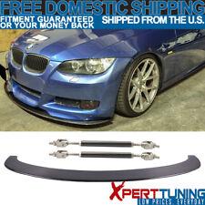 Fit 05-13 E90 E92 3 Series M3 Front Bumper Lip Carbon Fiber&Splitter Rod Support