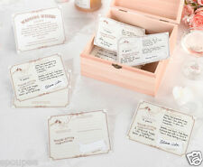 48 WEDDING WISHES CARDS SET (ALTERNATIVE GUEST BOOK OR WISHING WELL) TAN IVORY