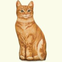 DOORSTOPS - GINGER TABBY CAT DOORSTOP - CAT DOOR STOPPER