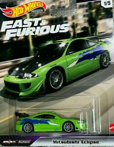 HOTWHEELS   FAST & FURIOUS FAST STARS MITSUBISHI ECLIPSE RUBBER TYRES