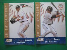 BRYCE HARPER + GARY SANCHEZ + MACHADO -  2011 SAL Prospects set