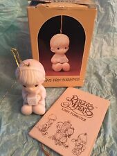 """Vintage Precious Moments """"Baby's First Christmas� Ornament E-2372 Block 1982"""