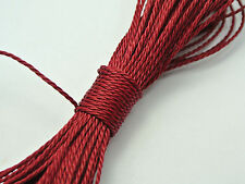 50 Meters Burgundy Waxed Polyester Twisted Cord String Thread Line 1mm