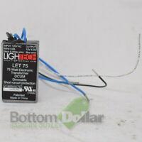 Lightech LET-151 150W Electronic Transformer DCUM 120V Input to 12V Output 16033