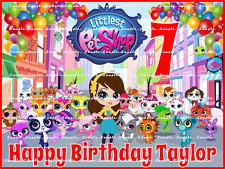 LITTLEST PET SHOP: Personalized edible cake toppers FREE SHIPPING in Canada