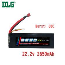 Genuine DLG RC Battery 22.2V 6S 30C 2650mAh Burst 60C Li-Po LiPo Dean's T plug