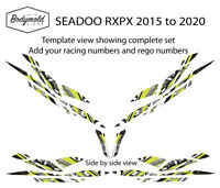Seadoo RXPX Racing Graphics 14 piece set - Style BMPWC71119