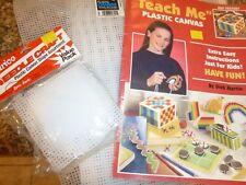 """Teach Me"" Plastic Canvas Leaflet +(26) 10 X 13"" SHEETS + 16 SMALLER SHEETS"