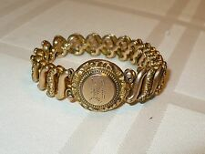 BEAUTIFUL HEAVY ANTIQUE GOLD BRACELET marked PATENTED
