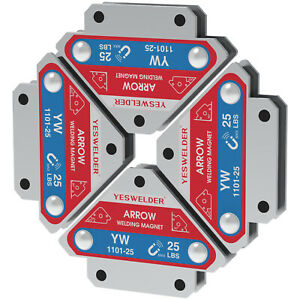 4 pcs 25lbs Welding Magnet Holder- 45 90 135 Angles