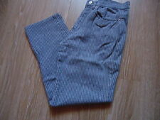 PANTALON ♥ OBOUST GIRLS ♥ T 34/14 ANS.FORME JEANS.GRIS RAYURES BLANCHES