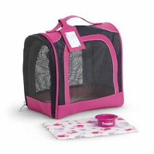 American Girl Doll Pet Carrier Travel Kennel Case with Dish Blanket NEW!!