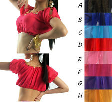 New Belly Dance Shinning belly dance Costume Blouse Lantern Tops bras Hot Sale