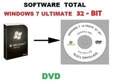 WINDOWS 7 ULTIMATE 32 BIT SP1 REINSTALL REPAIR DVD