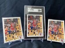 1991 Upper Deck Michael Jordan #44 SGC 10 With 2 Additional Raw Cards