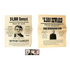 1 Set 3 Butch Cassidy Sundance Enfant Recherché Affiche Et Paul Newman Papier