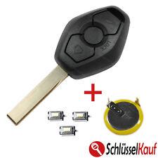 BMW Autoschlüssel E39 E46 E53 E60 E65 X5 + 1x LIR2025 Batterie + 3x Mikrotaster