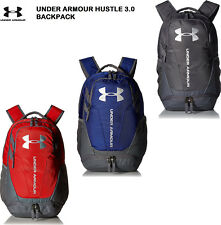 22aa2b04f830 Under Armour Hustle 3.0 Backpack School Bag Mens Backpack NEW 1294720  Authentic