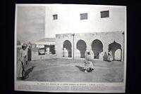 Ricreazione del Ministro della Guerra marocchino El Menebhi Stampa del 1906